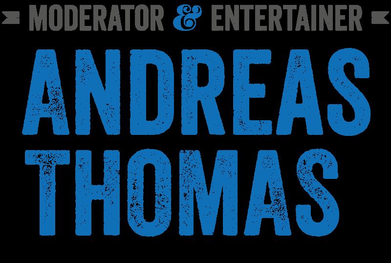 Moderator und Entertainer Andreas Thomas